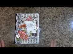 MINI ALBUM OVERVIEW FOR IDEAS USING JULIE NUTTING PAPER   DESIGNS BY SHE...