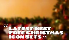 Latest Best Free Christmas Icon Sets