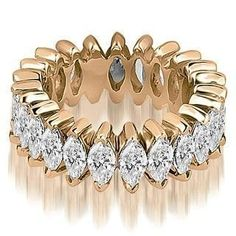 Shop for 2.88 cttw. 14K Rose Gold Marquise Diamond Eternity Ring. Get free delivery at Overstock.com - Your Online Jewelry Shop! Get 5% in rewards with Club O! - 19565363 #DiamondEternityRings