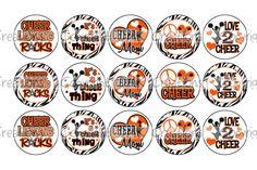 Cheerleading ROCKS Orange & Black Bottle Cap by DesignsbyDMK
