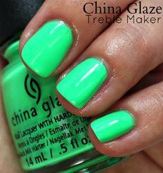 China Glaze Treble Maker Nail Polish // Electric Nights Neon Collection