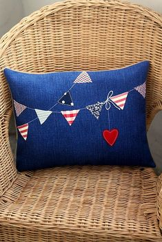 Hope Cushion by made by agah, via Flickr like this idea would like to do one for the kiddies with their names on the flags.