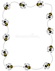 Illustration about Cute bees on white background page border / frame / corner. Illustration of flying, clip, background - 12202246 Scrapbook Frames, Scrapbook Borders, Free Printable Stationery, Printable Labels, Bee Drawing, Mommy To Bee, Page Borders, Art Drawings For Kids, Bee Cards
