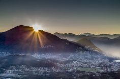 Sunrise over Lugano || Ticino