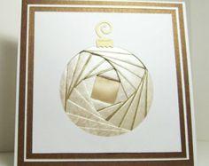 Iris plié carte - ornement de Noël