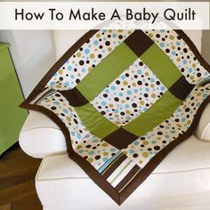 Full easy to follow pattern and tutorial for how to make a baby quilt. Easy enough for your first ever quilt pattern with lovely results. Nice baby gift.