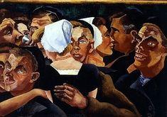 Westkapelle: Muzikanten en dansende boeren (1930); stijl primitivistisch of naïef