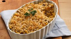 It's not just for kids anymore. Diners of all ages will enjoy the beefed-up goodness of this macaroni casserole.