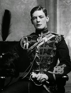 Winston Churchill at the age of nineteen as a second lieutenant at the Royal Military College, Sandhurst Winston Churchill, Rare Historical Photos, Historical Quotes, Neil Armstrong, Uma Thurman, Studio 54, Da Nang, Martin Luther King, Maori