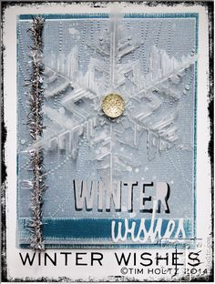 Tim Holtz: winter wishes card