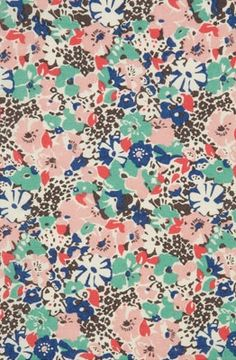 leopard and floral fabric print