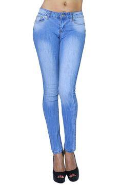Womens Fashion Basic Design Fitted Sexy Light Wash Skinny Jeans with Pockets (SIZE : 7, DENIM-JBA066K1)