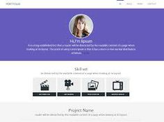 Portfolio personal website template is perfect for building a resume website. Showcase your skills online by building a stunning site with this free template. Portfolio Web Design, Portfolio Website, Mobile Website Template, Personal Website Design, Personal Portfolio, Lorem Ipsum, Mood Boards, Letters, Templates
