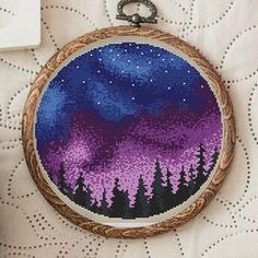 Cross Stitch Pattern Northern Lights Nordic Cross Stitch