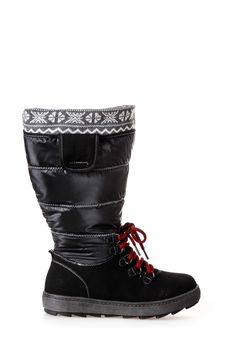 7d097a00b37 Schneestiefel mit weitem Schaft Andastra by JJ Footwear in Schwarz