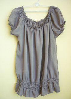 Kup mój przedmiot na #vintedpl http://www.vinted.pl/damska-odziez/bluzki-z-krotkimi-rekawami/13894960-urocza-damska-bluzeczka-letnia-z-gumkami