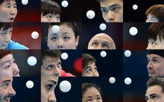 Various table tennis players  compete during the London Olympic Games