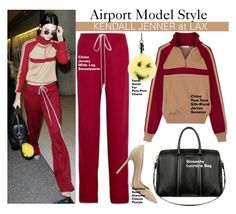 """""""Airport Model Style- Kendall Jenner"""" by swweetalexutza ❤ liked on Polyvore featuring Givenchy, Fendi, Gianvito Rossi, Model, kendalljenner and aiport"""