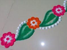 Beautiful and colourful rangoli border design.by DEEPIKA PANT - YouTube