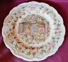"""Royal Doulton Brambly Hedge """"THE INVITATION"""" PLATE Superb 2nd"""