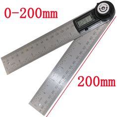 High-quality measuring tools 2 IN 1 Digital angle 360 degrees 200mm Electronic digital count Multi-function measuring ruler #Affiliate