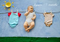 Fun Ways To Photograph Your Baby's First Year 위트있는 돌 사진 아이디어~!