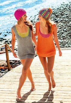 Strikk superkule singlet topper til sommeren - av Tusen Ideer Knitting Designs, Summer Tops, Knitting Yarn, Knit Crochet, Free Pattern, Knitting Patterns, Projects To Try, Cover Up, Pullover
