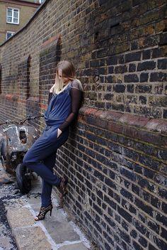 Follow me on Instagram @iida_hellgren    More details on the blog www.commedfilles.blogspot.co.uk Outfit, blogger, inspiration, grey, jumpsuit, sheer, black, zara, by malene birger, suede heels, brick, cool, edgy, london, ootd, blog, fashion