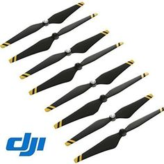 "Wholesale 4 Pairs DJI Genuine Composite Hub 9450 Self-tightening Propeller 9"" CW+CCW Props for Phantom 3 Professional / Advanced / Standard Quadcopter - Black + Yellow Stripe"
