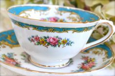 Vintage Tuscan Fine Bone China Tea Cup and by LaBellaVintage