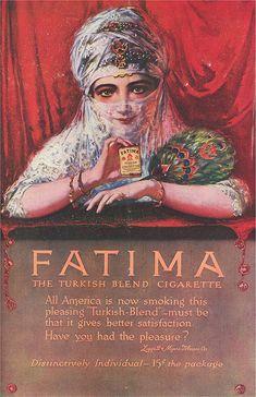 Fatima, cigarettes - 1910