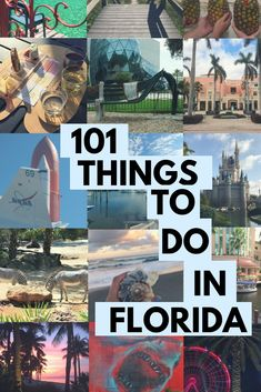 The ultimate Florida bucket list! Discover 101 things to do in the Sunshine State. Sign-up for the email list to download the free checklist. #florida #Travel #bucketlist #floridatravel Visit Florida, Florida Vacation, Vacation Spots, Florida Living, Florida Girl, Florida Usa, Orlando Florida, Places To Travel, Places To See