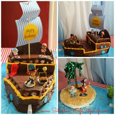An easy Bucky Pirate Ship cake tutorial for any little matey.