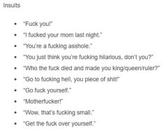Insults Prompts
