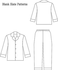 Lazy Day Pajamas PDF Sewing Pattern Boys by BlankSlatePatterns
