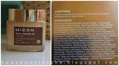 Kwasomaniaczka: MIZON Snail Repair EX Cream