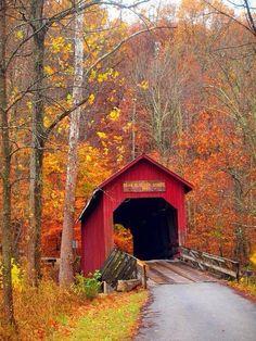 Pont couvert.