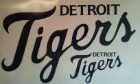 Detroit Tigers Baseball Vinyl Decal Set Of 2 Cornhole Gameboards Window Decals