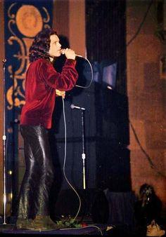Jim Morrison on stage.