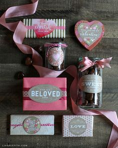 Sweet Vintage Valentine's Day Labels