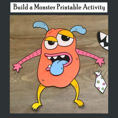 Halloween is right around the corner! Before trick-or-treating commences, consider this Build a Monster Printable Activity.