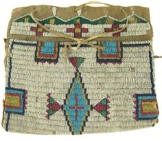 sioux possible bag Native Beadwork, Native American Beadwork, Native American Indians, Native Americans, Native Indian, Native Art, Indian Art, Sioux Nation, Indian Baskets