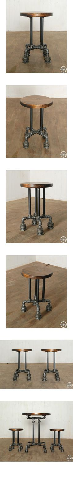 The Pipe:: Check out this very cool handmade stool made of industrial piping! Plumbing gets an upgrade!