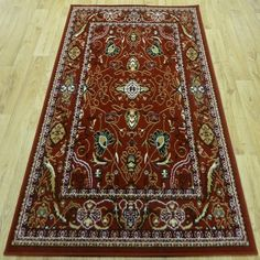 £49.49 160x225 RANGE 83 - 3 SIZES - Red Cream Beige Traditional Cheap Good Quality Rug Carpet | eBay