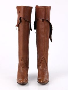 5a000e27e4b Vtg LARRY MAHAN Cognac Brown Leather Distressed Bohemian Western Boots Sz 6  RARE  LarryMahan  FashionWestern