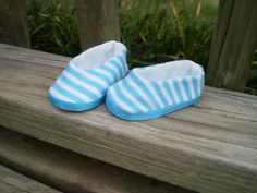 American Girl Doll Shoes 18 Doll Stripe by sassydollcreations