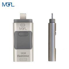 New i-Flash pen Driver 16GHD U-disk Lightning data for iPhone/iPad/iPod,micro usb interface flash drive for PC/MAC