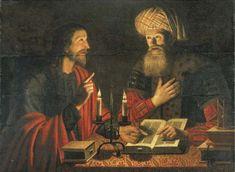 Christus in gesprek met Nicodemus 's nachts (Christus onderwijst Nicodemus); NB: Dit schilderij werd verkocht door Christies in 1962. Het is zeker niet door Crijn Hendricksz. Volmarijn. Een origineel bestaat die een superieur schilderij in elk opzicht. In dit schilderij van de saaie gezichten, zware kunstmatige gordijnen, stijf gebaren, en afgeplatte handen lijken het werk van de vervalser Han van Meegeren