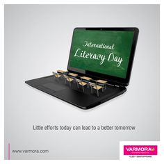 Little efforts today can lead to a better tomorrow International Literacy Day! International Literacy Day, International Days, Create Awareness, Tomorrow Will Be Better, New Poster, Word Art, Effort, Art Drawings, Education