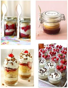 No Bake dessert recipes! Mason Jar Desserts, Mason Jar Meals, Meals In A Jar, Köstliche Desserts, Delicious Desserts, Dessert Recipes, Yummy Food, Mini Mason Jars, Dessert Healthy